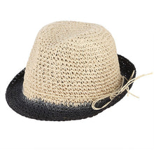 Load image into Gallery viewer, Handmade Crochet Pure Straw Hats Men Summer Sun Hat Breathable Beach Cap Male Jazz Caps Panama Hat Folding Floppy Caps