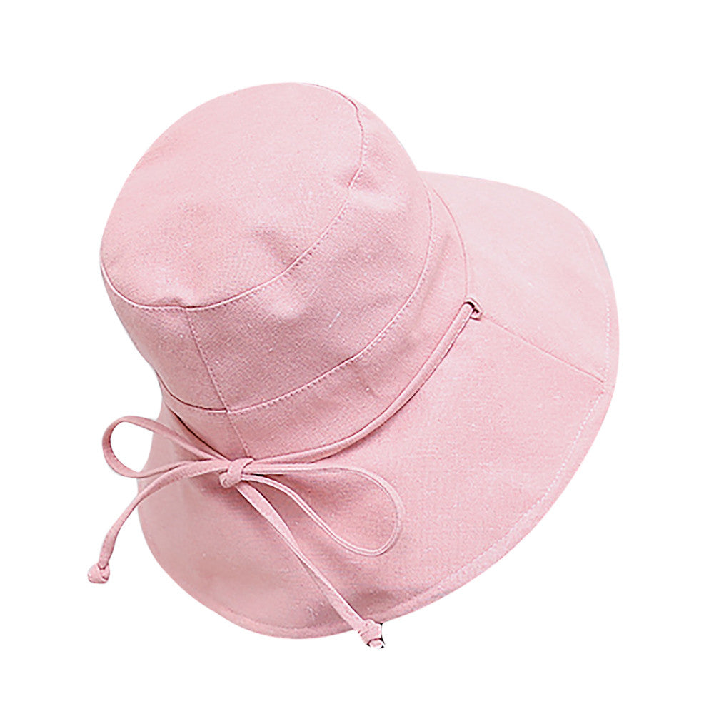 Hat Female Summer Sun Bonnet Folding Sunscreen Sun Hat Beach Cap Spring And Autumn Folding Solid Color Female Sunhats YL4