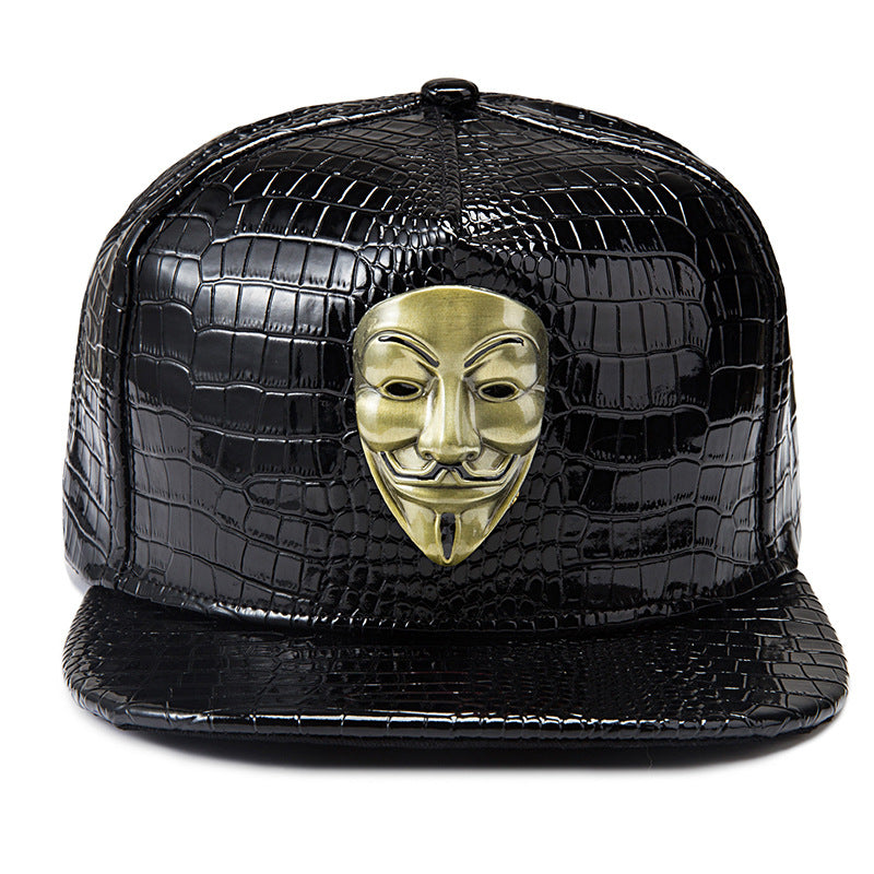 High Quality Fashion New America Drama V For Vendetta Men Women Hip Hop Hat Baseball Full Caps Pu Leather Casual Snapback Rapper