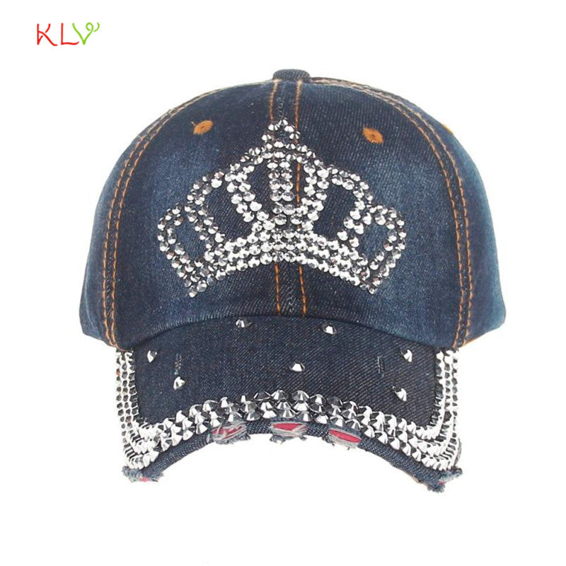 High Quality Hip-Hop Baseball Cap Full Diamond Crown  Flat Snapback Hat    Fashion Accessories 17Aug28