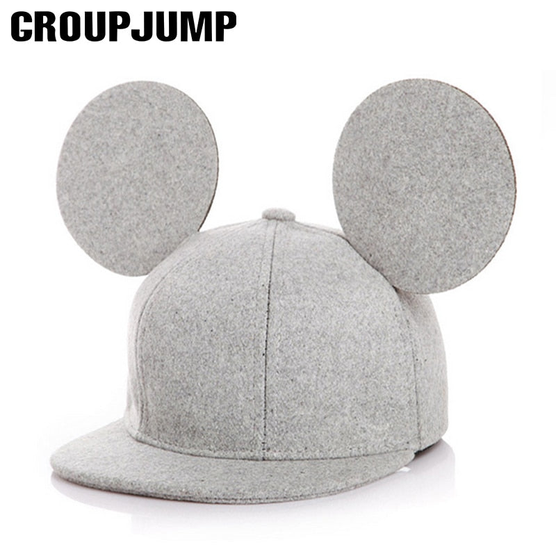 High Quality Kids Snapback Hats Lovely Round Ear Children Hip Hop Cap Summer Hat For Boys Girls Baseball Cap Accessories Gift