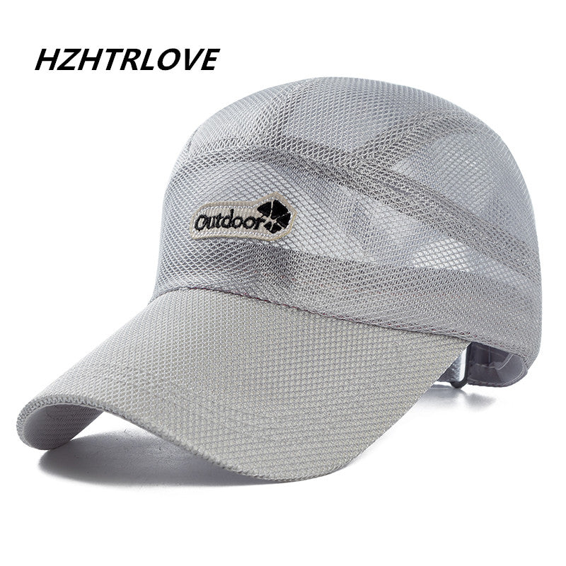 High Quality Men And Women Summer Outdoor Snapback Sun Hat Bone Breathable Mesh Gorras Casual Sports Mesh Men Baseball Cap