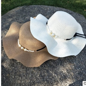 High Quality Summer Sun Hats for Women Solid Large Brimmed Sun Hats Blue White  Floppy Hats 81f96629227