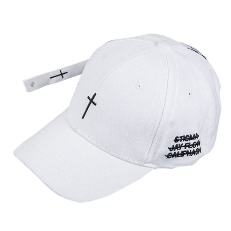 Hot Baseball Cap Embroidered Cross Pattern Hat Unisex Hip Hop Style Snapback Adjustable Baseball Hat Couple Caps dropshipping