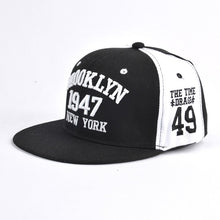 Load image into Gallery viewer, Hot Letter Embroidery Couple Baseball Caps Flat Snapback Hip Pop Caps For Women Panel Full Cap Hat Baseball Straig Brim Hat