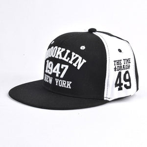 Hot Letter Embroidery Couple Baseball Caps Flat Snapback Hip Pop Caps For Women Panel Full Cap Hat Baseball Straig Brim Hat
