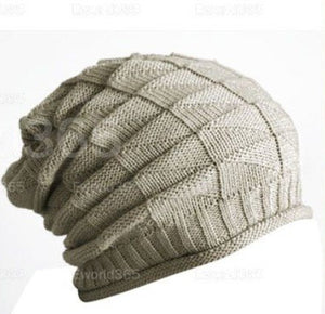 Hot New 2015 Winter Women Men Thick Warm Retro Cable Ski Knitted Gorro Baggy Slouch Beanies Hats Cap Unisex Cheap touca Z2