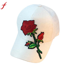 Load image into Gallery viewer, Hot Sale Casual Hat 2018 Unisex Applique Floral Baseball Unisex Snapback Hip Hop Flat Hat Shop Owner Recommended Hats