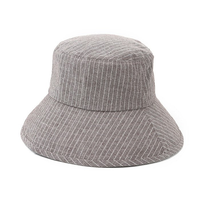 Hot Sale Fashion Black White Striped Foldable Dome Bucket Hat Hip Hop –  oePPeo - Master of Caps   Hats 04a6dfa3a10