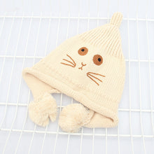 Load image into Gallery viewer, Hot Selling Unisex Women Men Winter Hat Snap Cartoon Cat Knit Hip Hop Beanie Warm Cap Bonnet femme Solid Color Cheap Caps