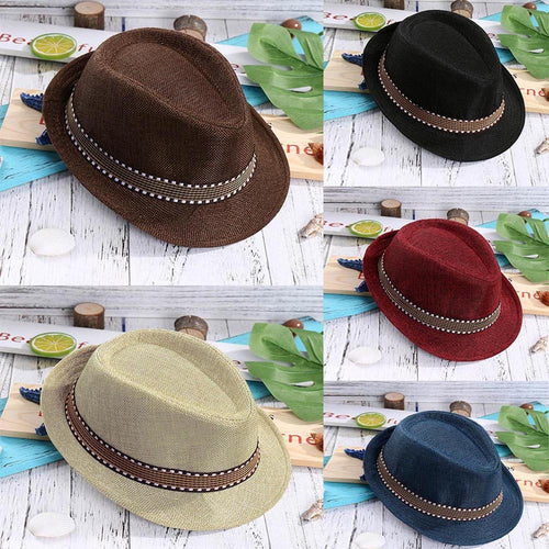 Hot Unisex Children Toddler Caps For Boys Girls Four Seasons Fashionable Jazz Hats Caps Summer Casual Trendy Beach Sun Cowboy