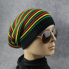 Load image into Gallery viewer, Huang Neeky  Men Women Rainbow Striped Hooded Cap Winter Warm Cap Knitted Hat Multicolor design beauty #5001 hot Drop Shipping