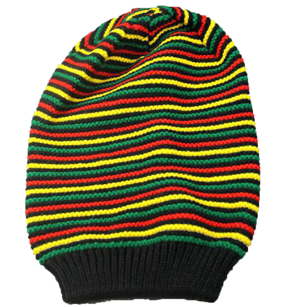 Huang Neeky  Men Women Rainbow Striped Hooded Cap Winter Warm Cap Knitted Hat Multicolor design beauty #5001 hot Drop Shipping