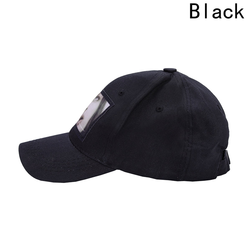 Human Face Baseball Hat High Quality Caps Hat Black White For Men Women New Baseball Cap Photo Print Fashion Style