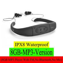 Load image into Gallery viewer, IPX8 Waterproof ( 268 bluetooth 4.0 ; 168 4GB 8GB MP3 Player FM Radio ) Swimming Diving Underwater Sport Stereo Earphones Music