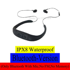IPX8 Waterproof ( 268 bluetooth 4.0 ; 168 4GB 8GB MP3 Player FM Radio ) Swimming Diving Underwater Sport Stereo Earphones Music