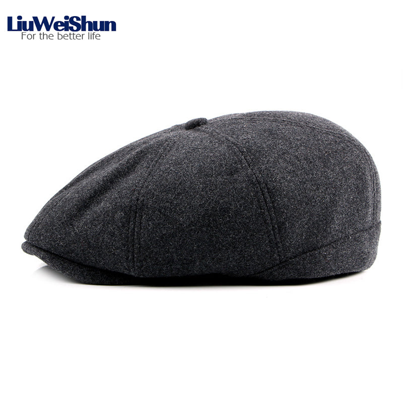 e0eb89aec17 Inner Velvet Thicken Warm Wo Newsboy Hat Men