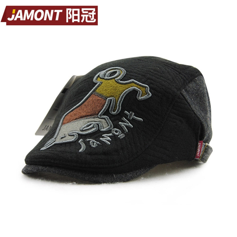 Autu Spring Type Cartoon Animal Printed cap Children Boys Girls Baseball Cap Comfortable Keep Warm Hat NEW