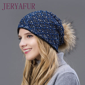 2018 hot winter hat fur loose and hollowed hat for female fashion unique eye -catching d85becfef129