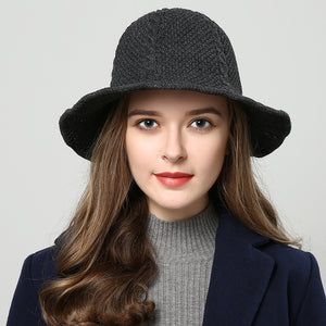 winter hats for women Fedoras hand made 2018 New Bucket cap women s hat red  knitted Cannabis 86427ec9e06