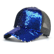 Load image into Gallery viewer, 2018 Spring summer New Sun hat Fashion style Woman favorite bling bling glitter Mesh Baseball Cap Casual leisure hat B529