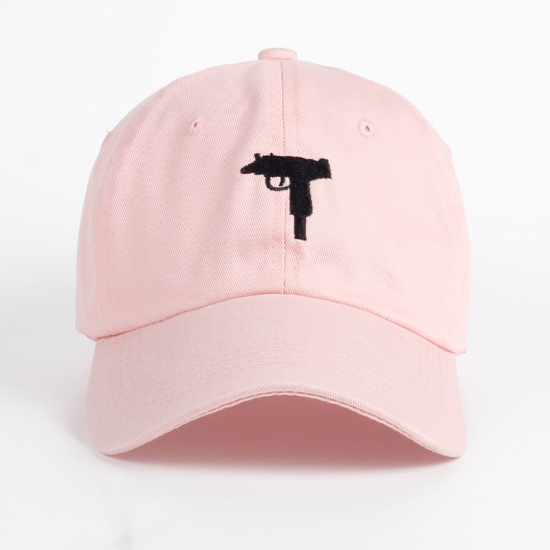 New Rare KYC Vintage UZI High Quality Gun Embroigery Snapback Dad Hat Cap Cot Baseball Cap Women Men Brand Sports Hat