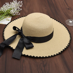 56076680e2c Japan Korean Style Summer Travel Sea Beach Straw Hat Women OutDoor Sun Hat  Bone Chapeu Feminino