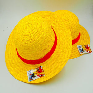 c01df825b69 Japanese Anime Cosplay Straw Hats One Piece Luffy Hat Cartoon Cap Cute  Solid Color Unisex Caps