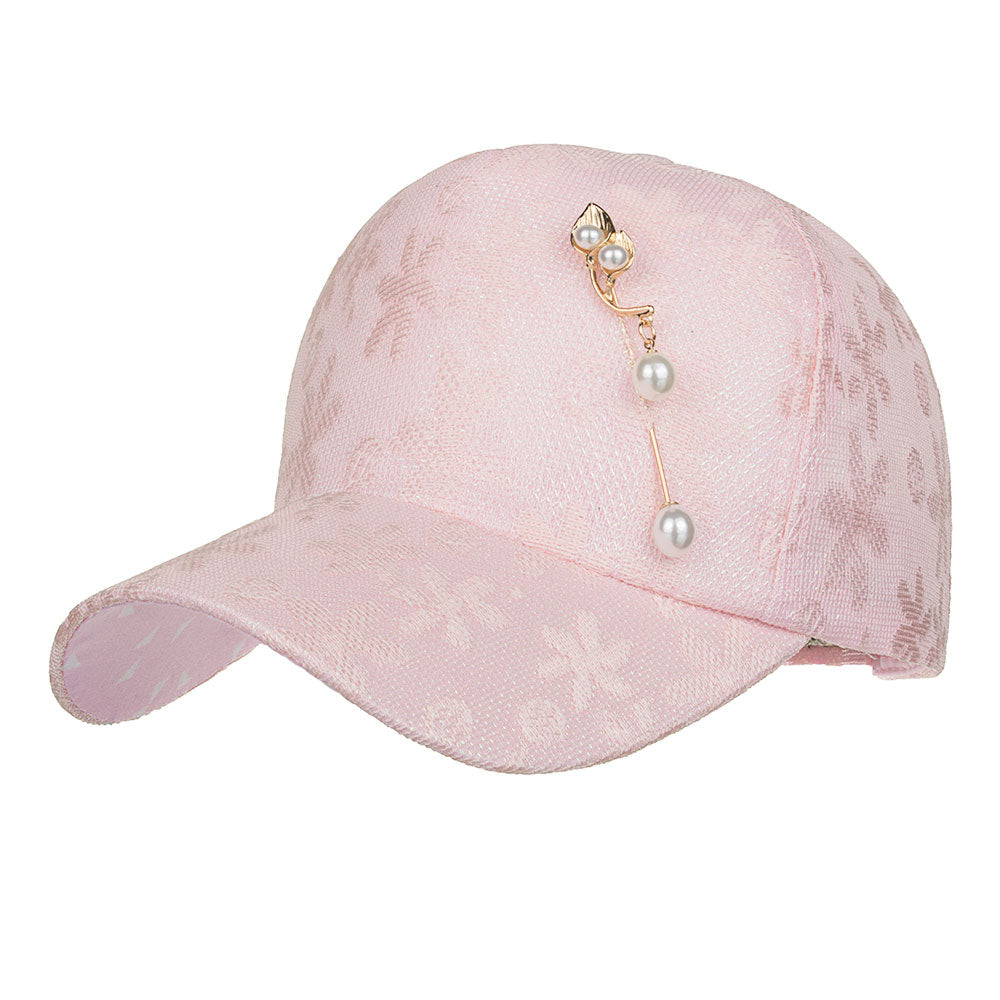2018 NEW ARRIVAL Spring Summer season leisure Fashion style Flower Hat with peral pin Snapback Baseball cap B523