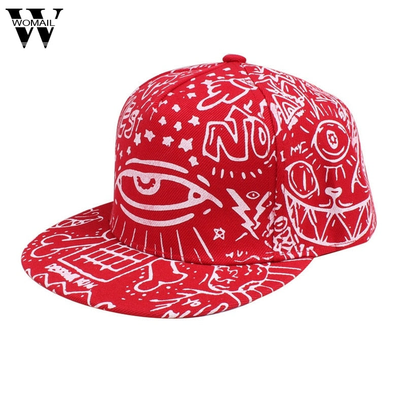 June 6 Fairy Store Fashion Vintage Baseball Flat Bill Hat Hippie Eye Hiphop Adjustable Cap