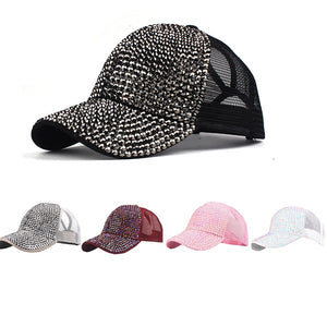 Unisex Fashion Women Rhinestone Outdoor Baseball Cap Bling Diamond Hat Adjustable Hip Hop Baseball Caps Couple PJ0913