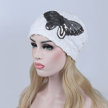 Load image into Gallery viewer, Women Hats with Beautiful Butterfly Pattern Winter Autumn Spring Beanies Ladies Lace Caps Adult Female Hats Women's Caps