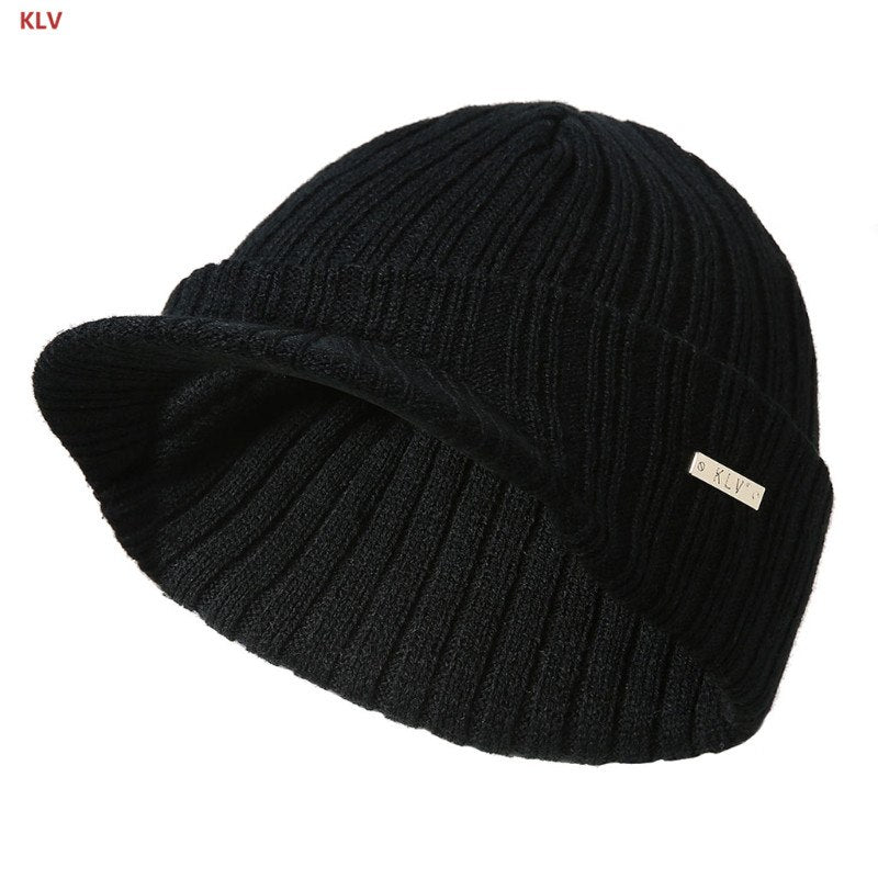 Mens Womens Winter Beanies Hat Skullies Winter Warm Knitted Cap With ... 51891261dfeb