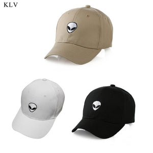 New Damn Alien Embroidery Baseball Cap Cotton Adjustable Outdoor Hat Lovers Hat Korean Style Harajuku Hat
