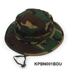 Load image into Gallery viewer, Nepalese Boonie Hats Tactical Airsoft Sniper Camouflage Tree Bucket Hat Accessories Military Army American Military Men Cap