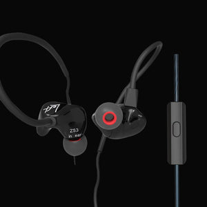 ZS3 Ergonomic Detachable Cable Earphone In Ear Audio Monitors Noise Isolating HiFi Music Sports Earbuds With Microphone es