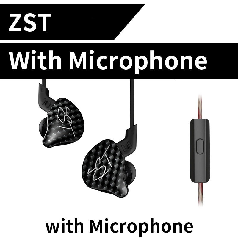 Z Dual Driver Earphone Dynamic And Armature Detachable Bluetooth Cable Monitors Noise Isolating HiFi Music Sports Earbuds