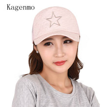Load image into Gallery viewer, Striped Solid Star Women Hat Fashion Casual Shopping Baseball Cap Summer Lady Sunscreen Sun Hat