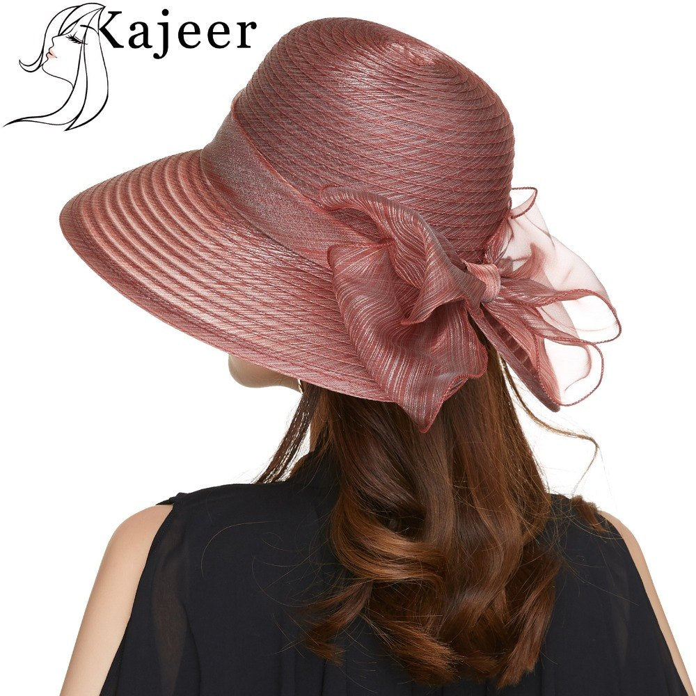 Church Caps Wide Brim Floppy Beach Women Wine Red Hat Summer Travel Cap  Party Ladies Casual Hats Female Fedoras Summer d8c1a2d6469