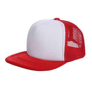Kids Summer Hat Breathable Blank Snapback Hats Adjustable Bboy Baseball Cap Hat Trucker Hat Mesh snapback caps