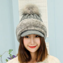 Load image into Gallery viewer, Knitted Hat Winter Scarf Women Skullies Beanies Winter Hats For Women Men Warm Mask Wo Thick Balaclava Cap Beanie Hat