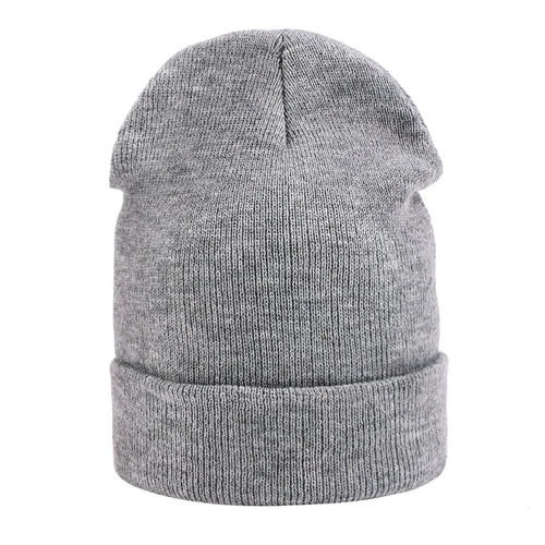 Knitted Skullies Beanies Women Winter Hats Solid Black Beanies For Men Ladies Hat Female Winter Rabbit Outdoor Beanie Hat Sports