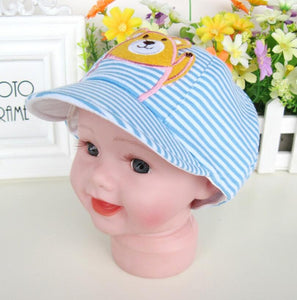 Korean Children Small Bear Flat Hat Travel Shopping Duck Tongue Baseball Cap Snapback Hat For Boys and Girls
