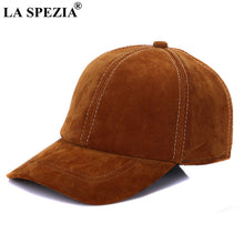 Load image into Gallery viewer, Brown Baseball Caps For Men Retro Genuine Leather Baseball Caps Male Adjustable Autu Winter Classic Leather Dad Hat