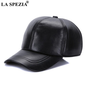 Brown Baseball Caps For Men Retro Genuine Leather Baseball Caps Male Adjustable Autu Winter Classic Leather Dad Hat