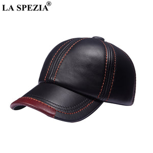 Brown Baseball Caps Men Genuine Leather Casual Peaked Hat Male Adjustable  Winter Natural Leather Luxury Baseball 3368abb0a2c