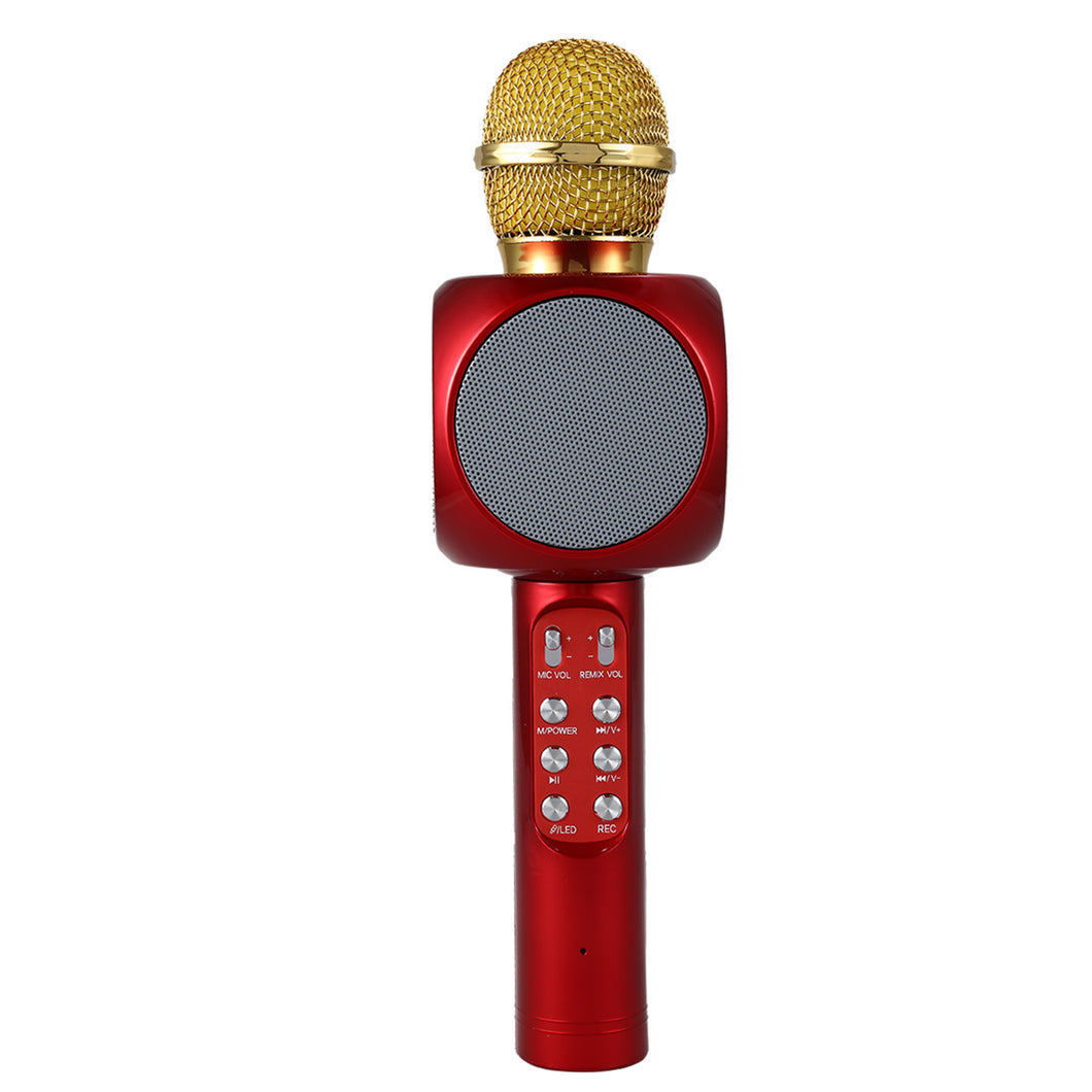 LED Wireless Karaoke Microphone Portable Bluetooth mini home KTV for Music Playing and Singing Speaker Player Selfie PHONE PC