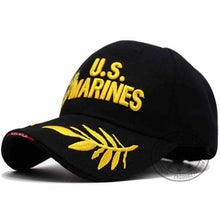 Load image into Gallery viewer, Men's USMC US MARINES Corps Embroidered Ball Cap U Navy Tactical Hats Snapback Cap Hat Adjustable Navy Seal Gorras