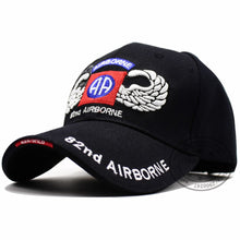 Load image into Gallery viewer, US Army 82nd Airborne Division with Wings Embroidered Ball Cap Troops 3D Baseball Cap U Tactical Hat Men Outdoor hat