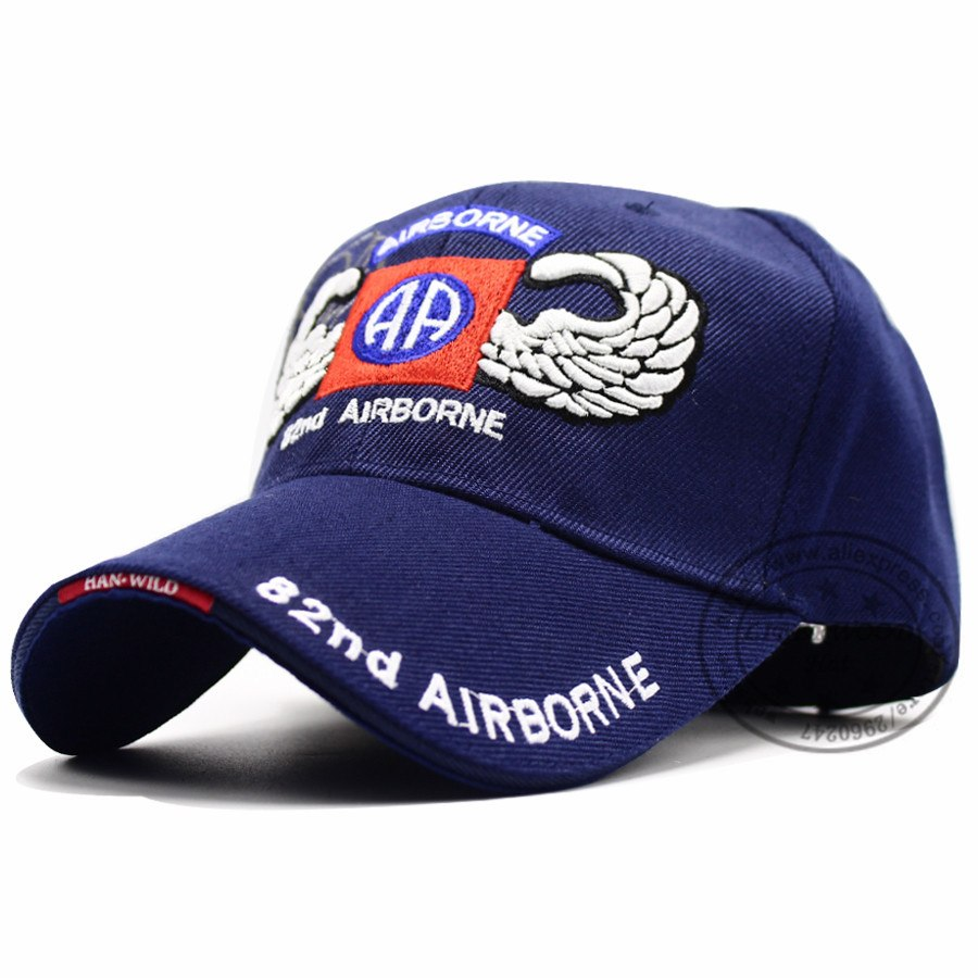 US Army 82nd Airborne Division with Wings Embroidered Ball Cap Troops 3D Baseball Cap U Tactical Hat Men Outdoor hat